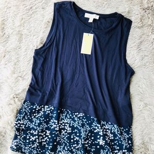✨{Michael Kors}True Navy & Floral Tank Top✨